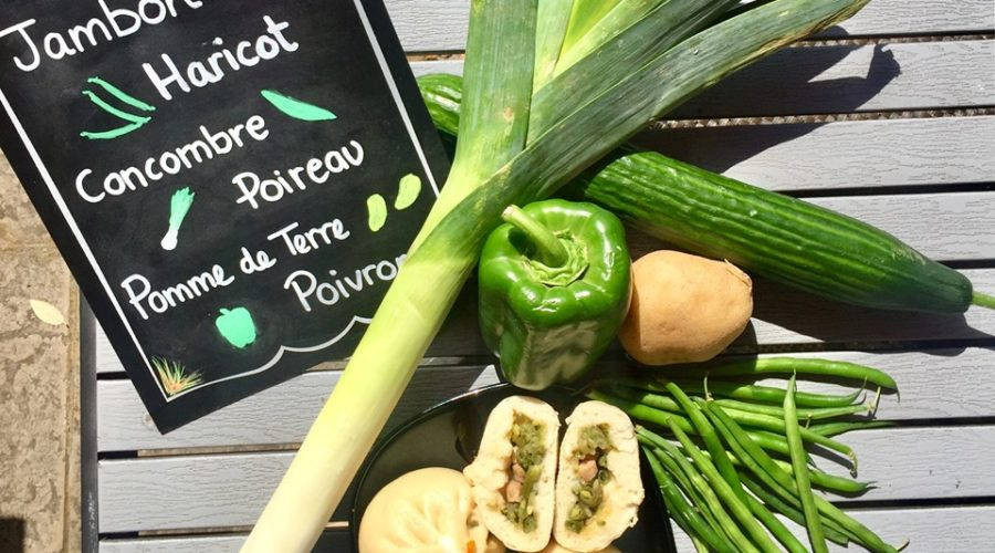 Bao de saison Jambon & légumes verts !